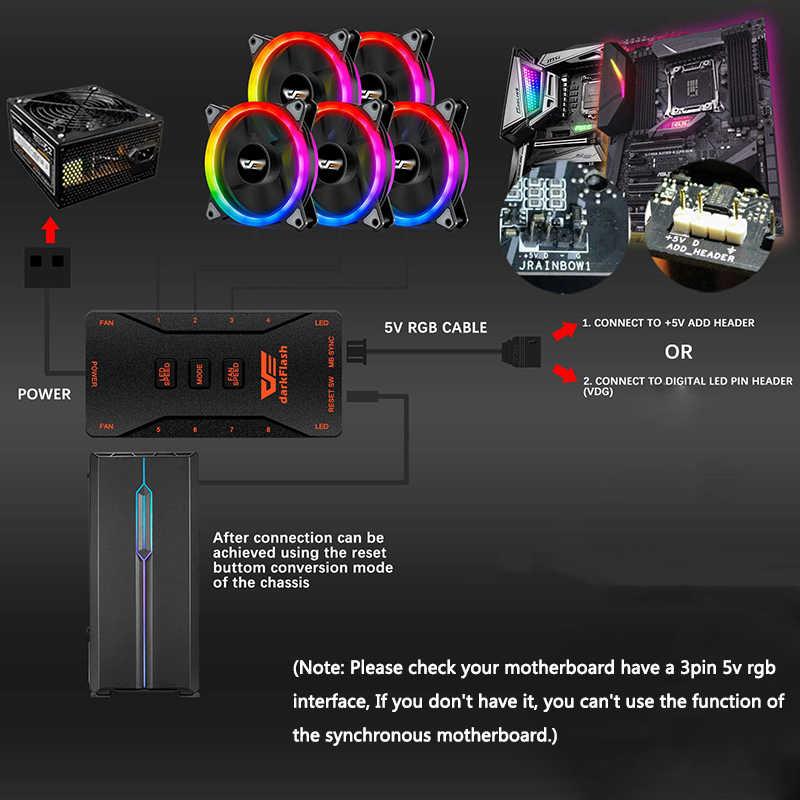 Aigo DR12 برو RGB LED حالة مروحة ل وحدة المعالجة المركزية برودة ضبط سرعة المياه مراوح التبريد هادئة عن 120 مللي متر هالة مزامنة وحدة معالجة خارجية للحاسوب PC مروحة
