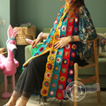 Handmade crochet American Europe mix colours scarf women's knitting shawls scarves crochet cappa india ladies female scarves