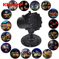 16 Film Replaceable Projection Auto Moving Fairy Christmas Party Halloween Birthday Wedding Decoration Lamp 110 240V