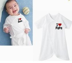 Latest cute i love papa mama print baby infants toddlers rompers kids underwear newborn bathrobe 50pcs.jpg 250x250