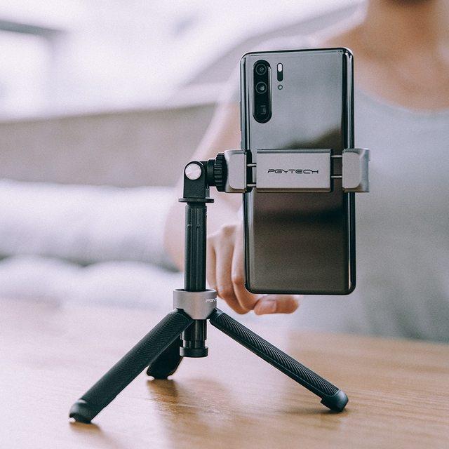 PGYTECH Vlog Phone Extension Pole Plus Selfie Stick Tripod Phone MountFor Smartphone Iphone Android Vlog Set Phone Vlogging Kit