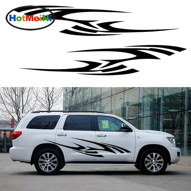 Hotmeini 2x personalized african wildlife zebra stripes decorative art of car sticker camper van car styling