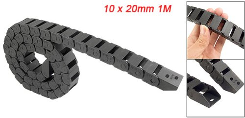 Купить с кэшбэком Transmission Chains 10 x 20mm 1M Open On Both Side Plastic Towline Cable Drag Chain