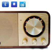 antique classic vintage ancient FM radio bluetooth speaker build in mp3 music decoder usb flash disc tf card reader interface