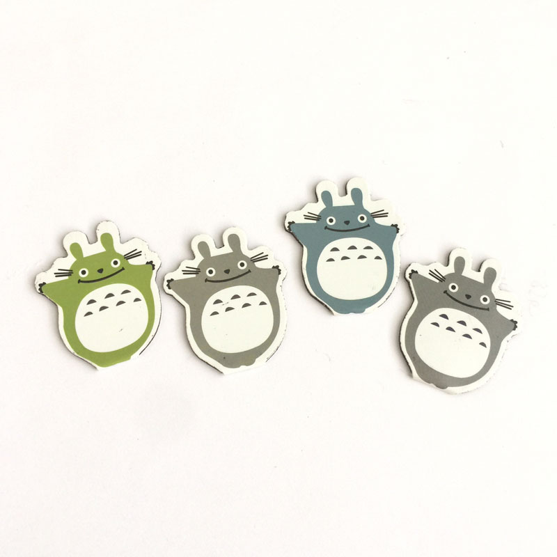 3X Kawaii Totoro Magnetic Bookmarks Book Marker Of Page Paper Clip School Office Supply Student Stationery