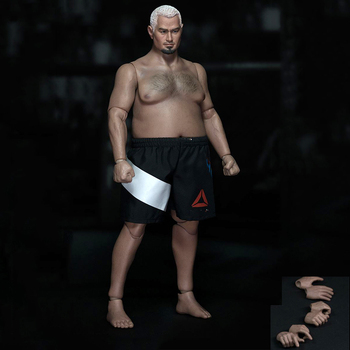1:6 Scale Plump Male Fat Strong Body Figure Body AT018 and AT021 w head and short F 1/6 Model Figure Accessory