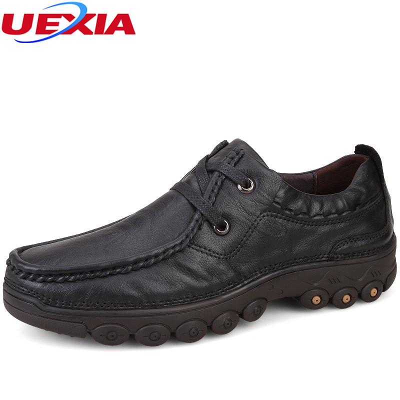 Autumn Winter New Loafers Cow Leather Oxfords Handmade Casual Shoes Men Flats Shoes Men High Quality Moccasins Sapato Masculino relikey brand men casual handmade shoes cow suede male oxfords spring high quality genuine leather flats classics dress shoes