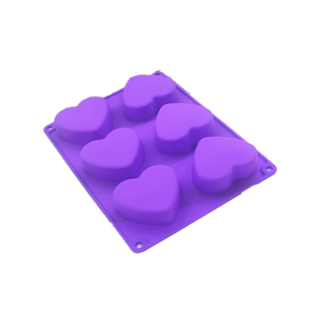 Wholesale Diy handmade soap silicone mold 6 love new products you to heart candy silica gel molds 80 - 100g