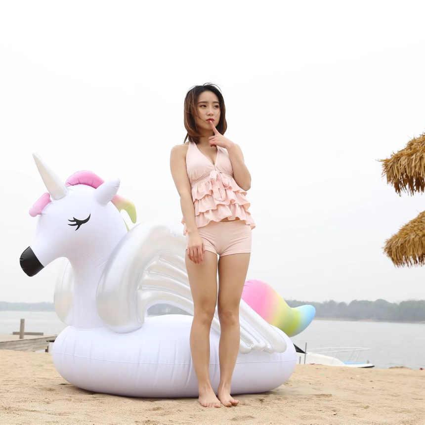 Unicornio inflable gigante/Pegaso de 275cm, Flotador para piscina, colchón de aire para mujer, anillo de natación para adulto, juguete de fiesta de agua de verano boia