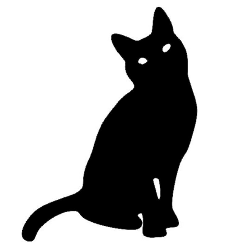 Black Cat Window Decal