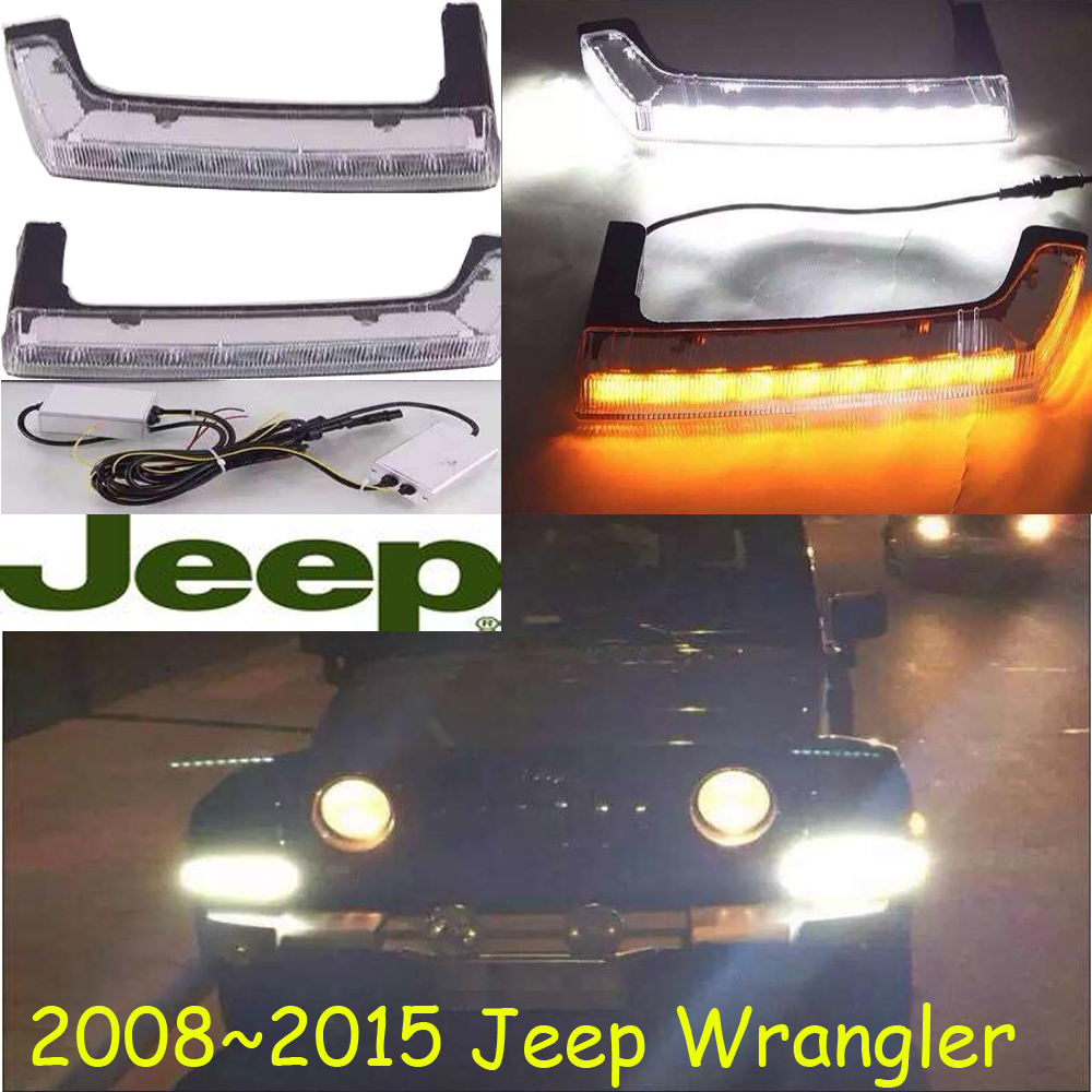 Wrangler headlight,Car-styling,Wrangler daytime light,2008~2015,chrome,LED,Free ship!2pcs,car-detector,Wrangler fog light