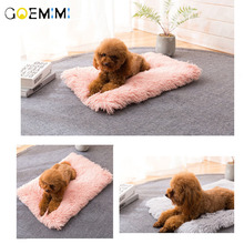 Long Plush Pet Dog Cat Bed Blankets Fluffy Mats Deep Sleeping Soft Covers for Large Dogs Solid Cats Mattress