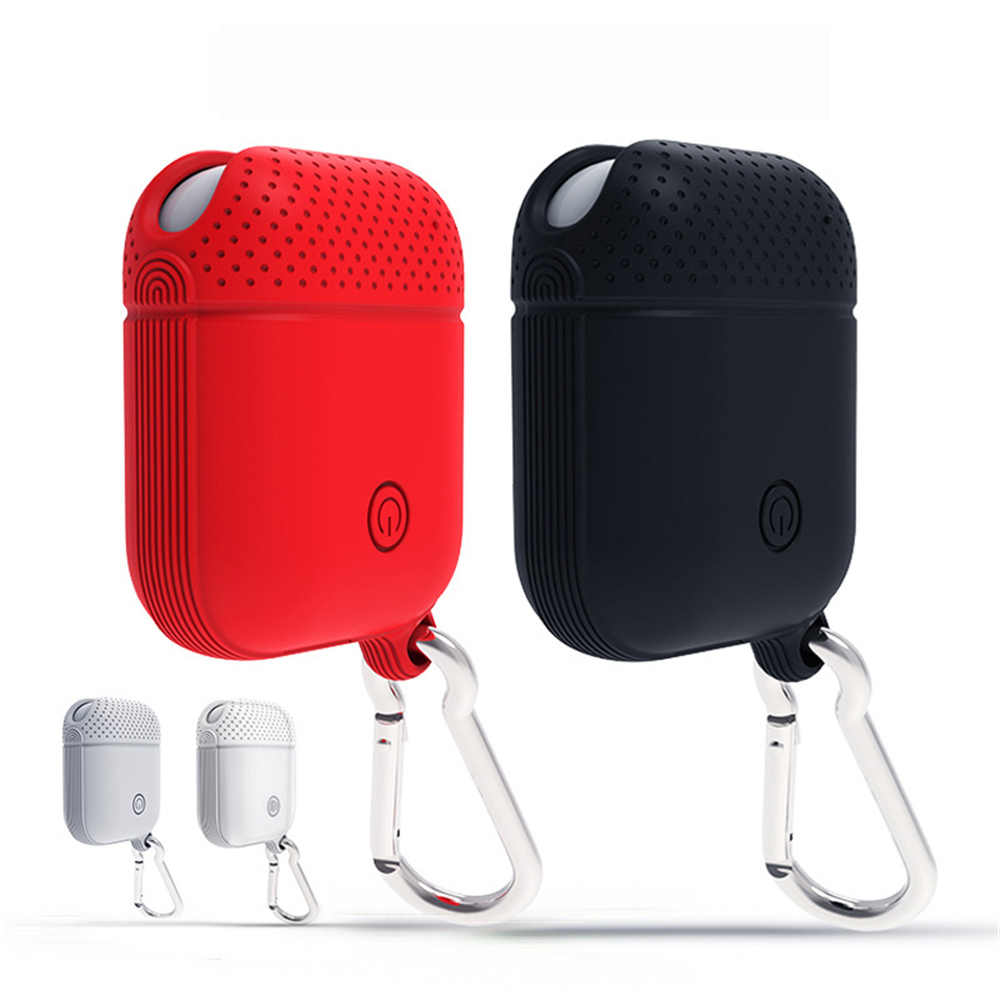 Non-slip Silicone Case Cover Earphone Pouch Protective Skin Anti-lost Wire Eartips Wireless Earphone Case for Apple AirPods