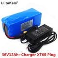 LiitoKala 36В 12Ач батарея для электрического велосипеда встроенный литиевый аккумулятор BMS 20A 36В с 2A зарядкой аккумулятора Ebike XT60