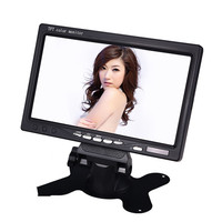 7W Universal Car Monitor 7 Inch Car Display Truck LCD AV Connector HD Monitor Bus Car Reversing Priority LCD Display Monitor