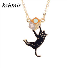Kshmir Classic fashion new drip cat short chain necklace clavicle women adorn article The girl pendant necklace