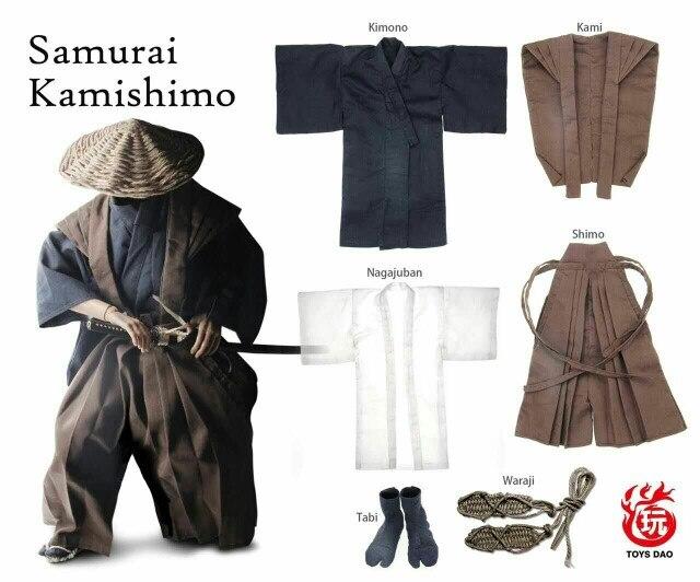 """Accesorios de figura de 1/6, ropa de traje de samurái japonés para muñeca de acción de 12 """". muñeca no incluida y otros D1857-in Figuras de juguete y acción from Juguetes y pasatiempos    1"""