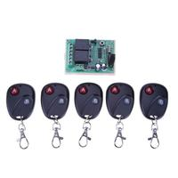 433Mhz Universal Wireless Remote Control Switch DC12V 24V 2CH Relay Receiver Module And 5pcs RF 433