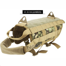 New Military Tactical Dog Training Molle Vest Compact Harness Dog Clothes Load Bearing Harness SWAT Dog Pet jacket Gear