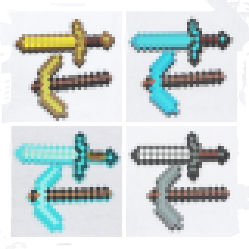 Minecraft Toys Minecraft Foam Diamond Sword Pickax Axe Shovel Gun EVA Model Toys Gift Toys For