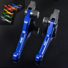 FREAXLL Dirt Bike Motorcycle Pivot Brake Clutch Levers Handle Bar Grips CNC for Suzuki RM125 RM-125 RM 125 1996 1997 1998-2008