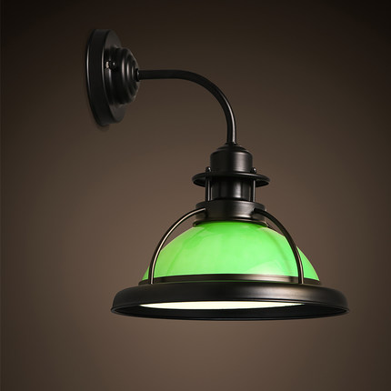 American style wall light Vintage Retro industrial wind LED corridor balcony bar personality clothing shop lighting wall lamp ZA 18cm bohemian style red bronze colour crystal led wall lamp vintage wall light cafe bar store hall coffee shop aisle lighting