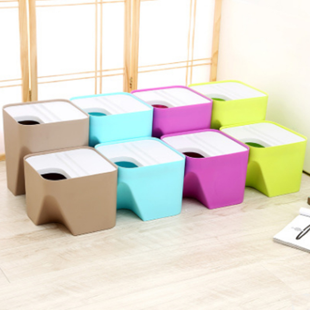 hotel plastic stackable classification ash bin creative paper basket household kitchen trash can large desktop - Plastic Stackable Bins