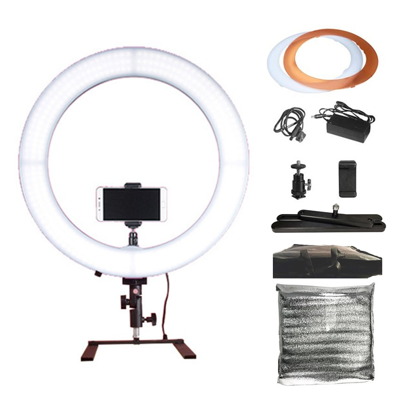 19inch 60W 5500K Dimmable LED Ring Light + Desktop Stand + Cell Phone Holder for Live Stream Youtube Selfie Video Makeup Photo19inch 60W 5500K Dimmable LED Ring Light + Desktop Stand + Cell Phone Holder for Live Stream Youtube Selfie Video Makeup Photo