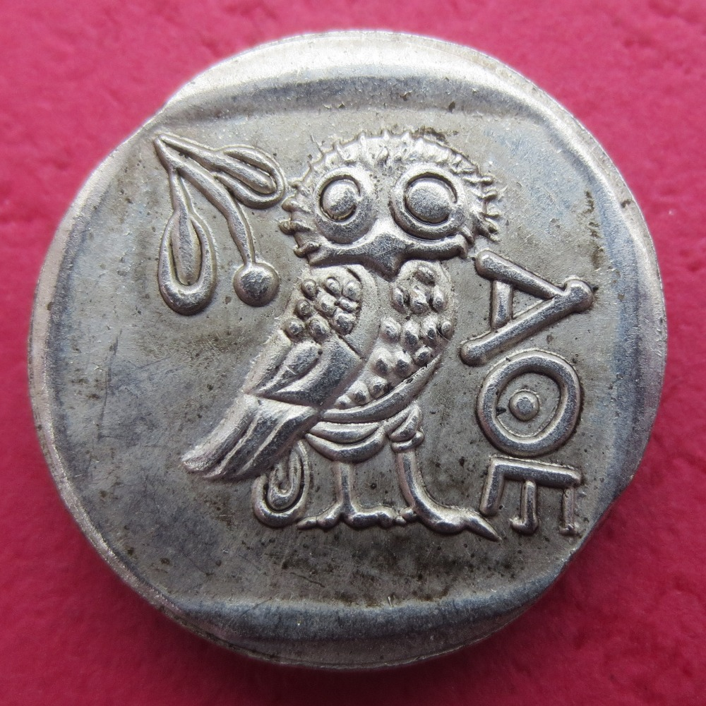 Г (02) древних Афины греческий серебро драхмы-atena Греции Сова драхма копировальные монеты ...