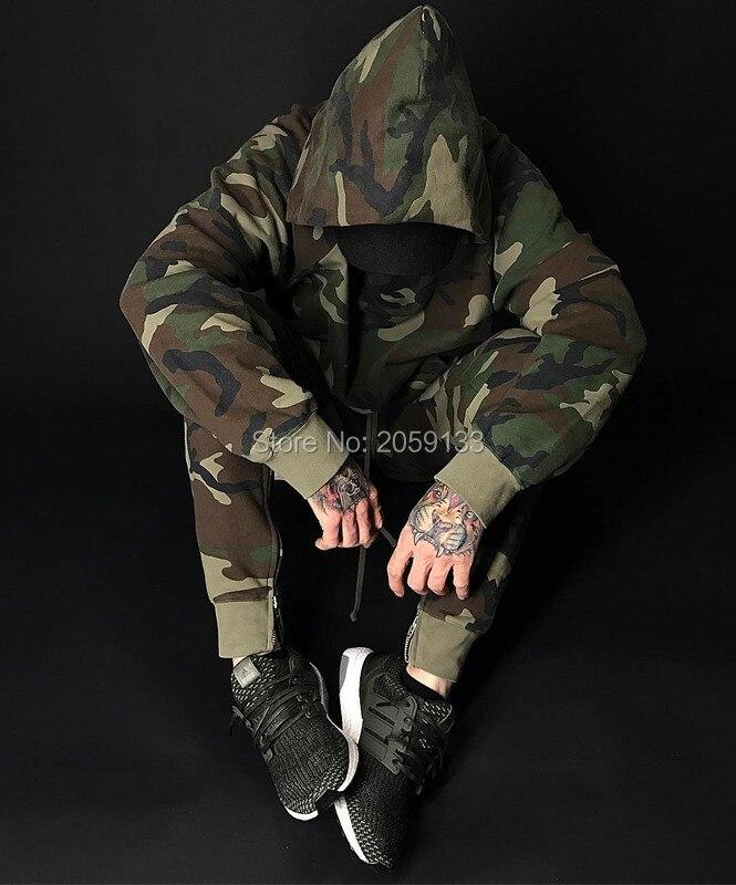 Nieuwe stedelijke kleding mode zanger mens jumpsuit harem camo zijrits broek joggers militaire leger joggingbroek camouflage