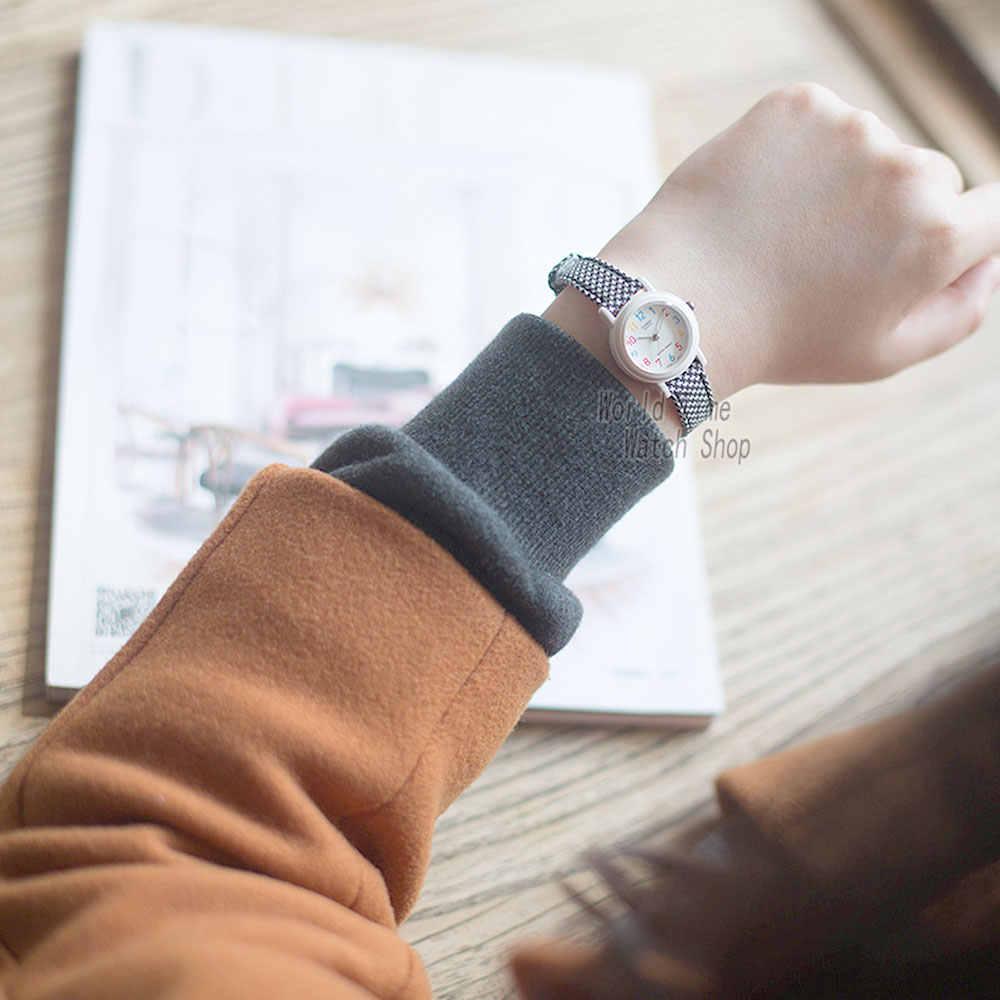 Casio watch Часы Женские Аналоговые повседневные Кварцевые спортивные часы карамельных цветов кожаный наручные часы точка принцесса циферблат студенческие женские часы Reloj Mujer Relogio Feminino LQ-139LB