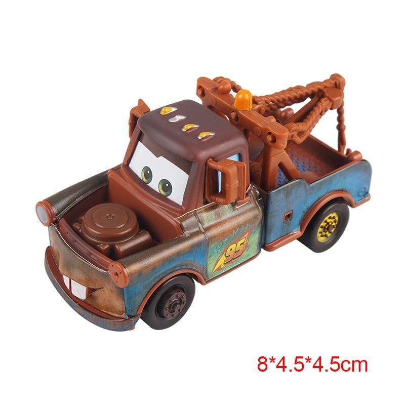 Дисней Pixar Тачки 2 3 Молния Маккуин матер Джексон шторм Рамирез 1:55 литье под давлением автомобиль металлический сплав мальчик малыш игрушки Рождественский подарок - Цвет: Mater