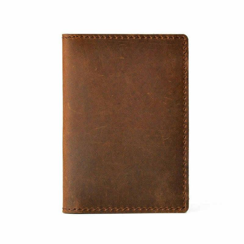 GENODERN Crazy Horse кожаный держатель для кредитных карт для мужчин карта унисекс кошелек для мужчин и женщин Чехол для карт