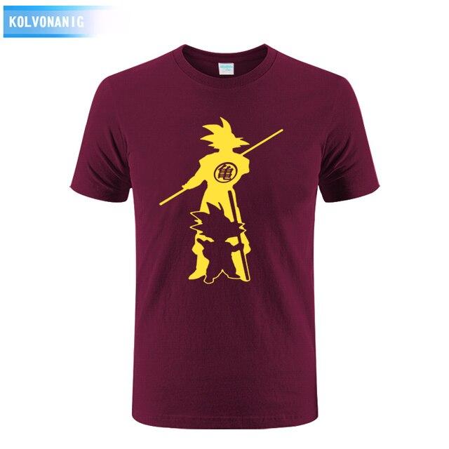b0be650593c191 Sommer 2019 Neue Baumwolle Japan Anime Dragon-Ball Sun Wukong Gedruckt T  Shirt Super Saiyan