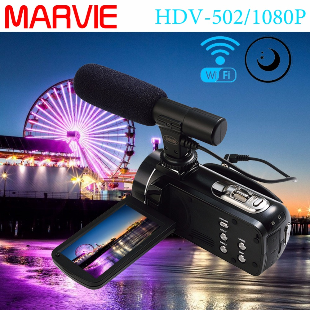 Marvie Mini Portable WIFI Camcorder FHD @ 30 FPS Max 24.0 MP 3.0 layar 16X Digital Zoom camera Foto Digital Video Recorder DV ...