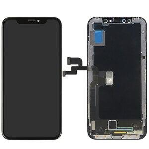 Image 1 - Originele Kwaliteit Voor Iphone X Lcd scherm Touch Screen 5.8 Inch Digitizer Vergadering Vervanging 100% Voor Iphone X Tianma Tft lcd