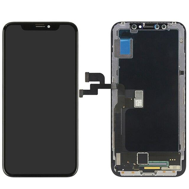 Originele Kwaliteit Voor Iphone X Lcd scherm Touch Screen 5.8 Inch Digitizer Vergadering Vervanging 100% Voor Iphone X Tianma Tft lcd