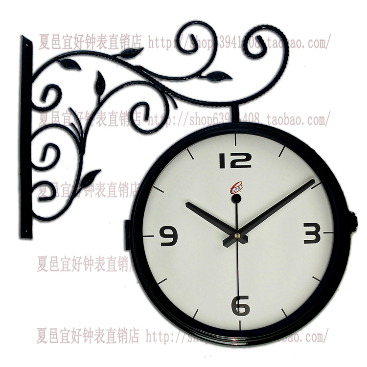 Charming Large Modern Clock Part - 13: Fashion Double Faced Clock Fashion Large Clock Modern Rustic Brief Mute  Quartz Clock And Watch