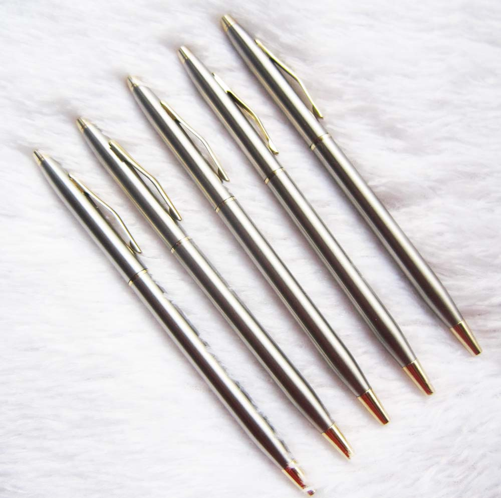 1Pcs/Lot  Stainless steel pen  free   shipping