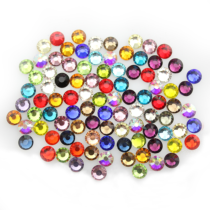 High Quality Mixed Colors ss3-ss30 3D Non-Hot fix Flatback Rhinestones For Nail Art Decorations DIY Clothing Accessories