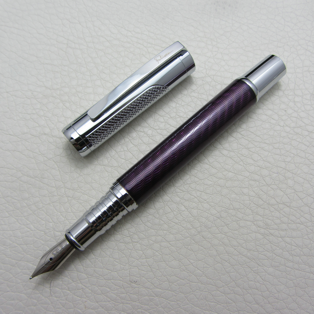 Fuliwen Fountain Pen Purple ripple M Nib Level Heavy Pen F9012 italic nib art fountain pen arabic calligraphy black pen line width 1 1mm to 3 0mm