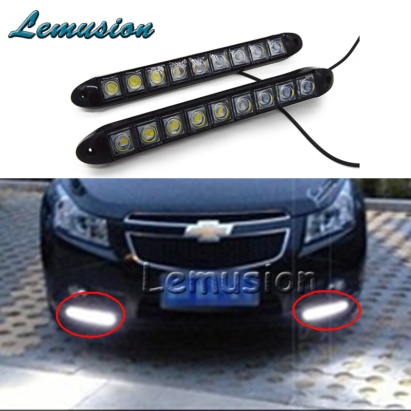2x car led daytime running lights 12v 9 led drl lamp for. Black Bedroom Furniture Sets. Home Design Ideas