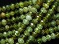 Envío libre natural 2.5-3*4mm verde granate facetado rondelle granos flojos de piedra de alta calidad para la joyería haciendo