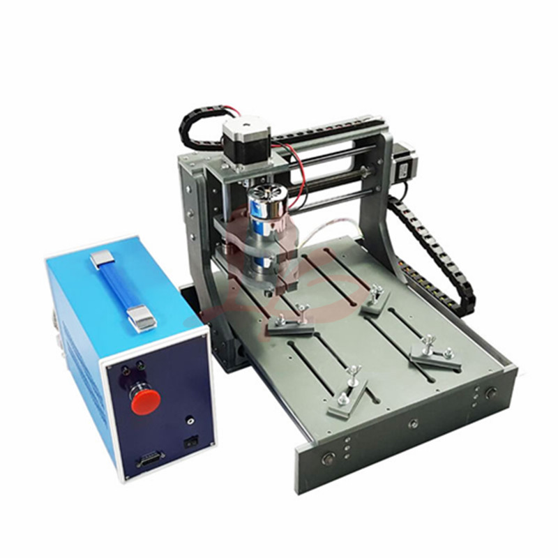 300W spindle CNC Wood Router 2030 3020 Diy mini CNC machine working area 20x30x5cm Pcb engraver machine