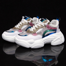 Brand 2019 New Trendy Chunky Sneakers Women Shoes Colorful White Sneaker Platform Casual Woman Trainers chaussures femme