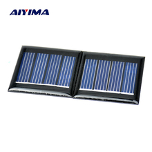 Aiyima 10pcs 2V 60ma BEAM solar cell Monocrystalline silicon for Model aircraft instrument accessories 40 40MM
