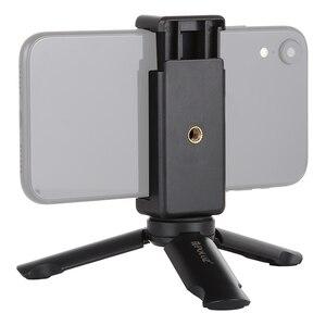 Image 1 - Mini Telefono portatile Treppiede Da Tavolo Smartphone Supporto del Supporto Della Clip Del Basamento Del Supporto con vite da 1/4 di pollice per il iphone X/8/ 7 più Huawei Xiaomi