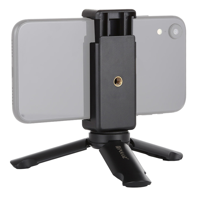 Mini Telefono portatile Treppiede Da Tavolo Smartphone Supporto del Supporto Della Clip Del Basamento Del Supporto con vite da 1/4 di pollice per il iphone X/8/ 7 più Huawei Xiaomi
