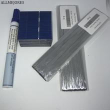 ALLMEJORES 40pcs Solar cell 52mmx52mm 0.43W/pcs + Enough Tab wire and bus wire +flux pen for DIY solar panel and charger