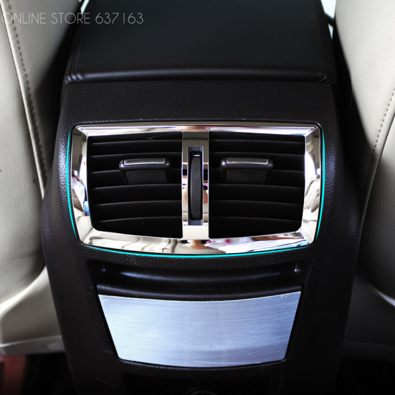 Stainless steel car interior rear air vents decoration fit for Pare vent interieur decoration